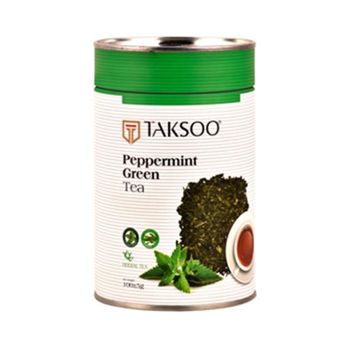 مخلوط چای سبز و گیاه نعنا فلفلی بسته 100 گرمی