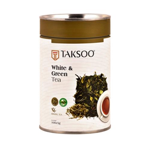 مخلوط چای سفید و سبز بسته 100 گرمی